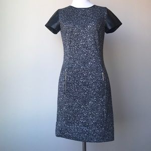 Michael Kors Dress with Leather Sleeves Sz 0